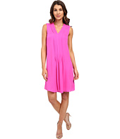 Rebecca Taylor - Sleeveless Silk Double Georgette V-Neck Dress