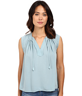 Rebecca Taylor - Sleeveless Silk Double Georgette Tie Top