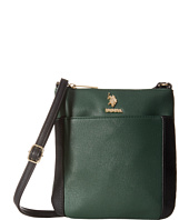 U.S. POLO ASSN. - Greenwich Color Block Mixed Media Shoulder Bag