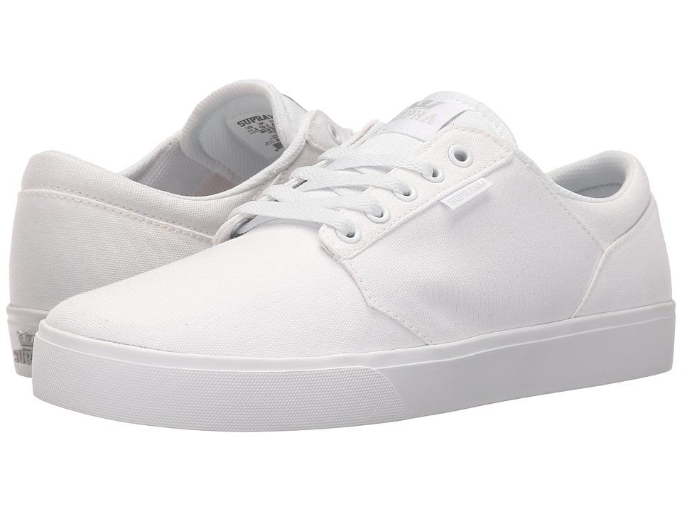 Supra - Yorek Low (White/White) Mens Skate Shoes