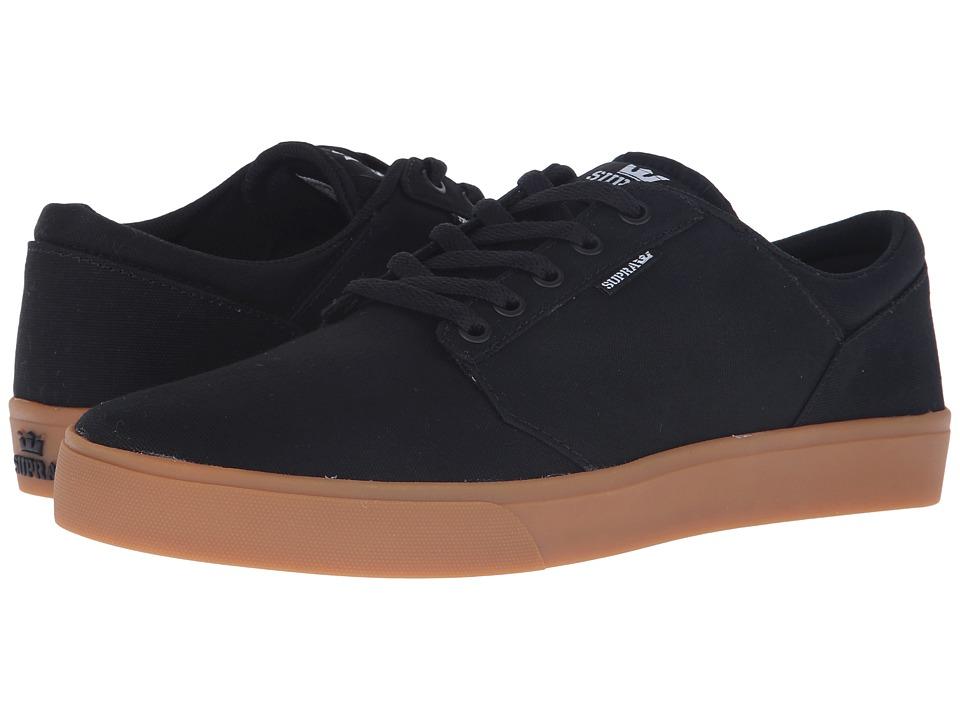 Supra - Yorek Low (Black/Gum) Mens Skate Shoes