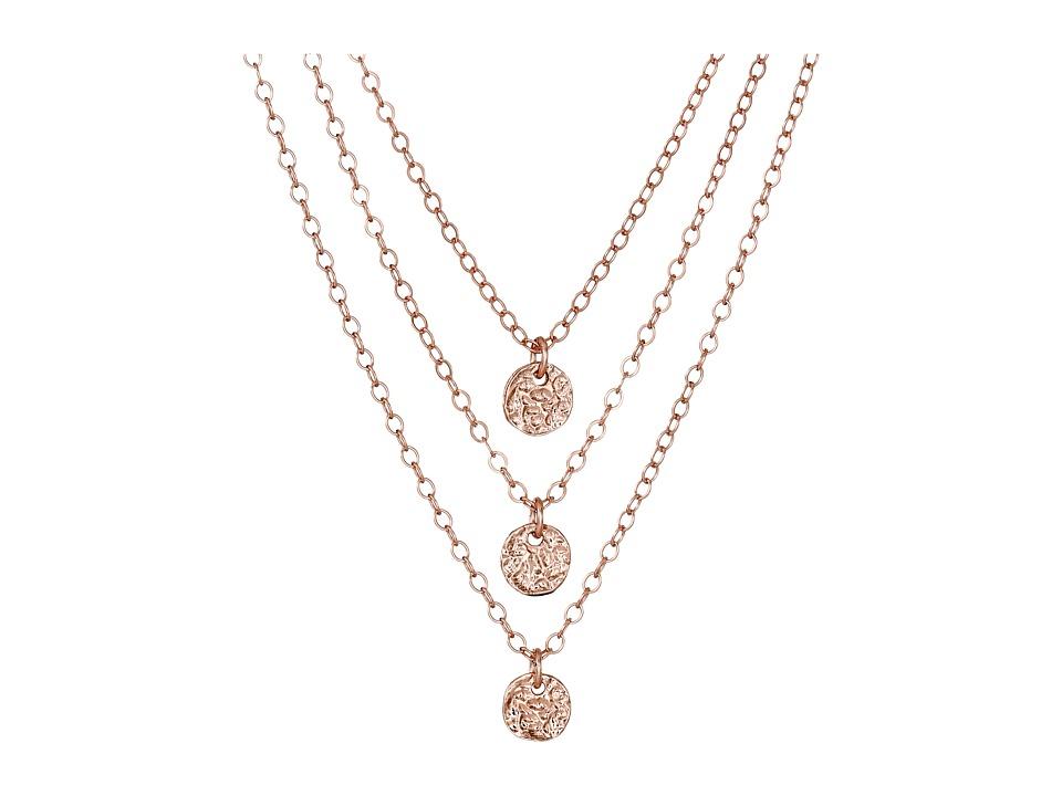 gorjana 3 Disc Necklace Rose Gold Necklace