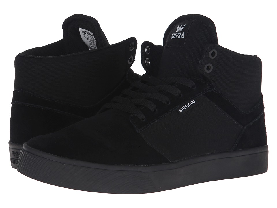 Supra Yorek Hi Black/Black/Black Mens Skate Shoes