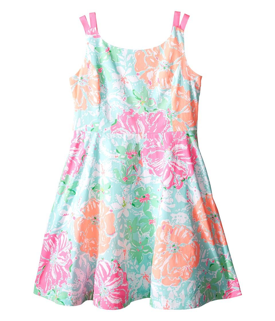 Lilly Pulitzer Kids Charlie Dress Toddler/Little Kids/Big Kids Poolside Blue Beach Walk Girls Dress