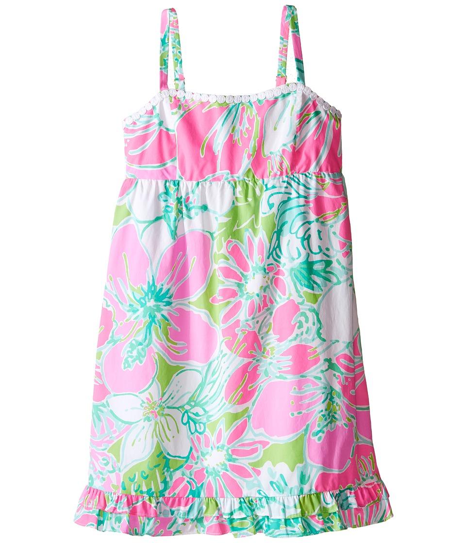 Lilly Pulitzer Kids Fifi Dress Toddler/Little Kids/Big Kids Flamingo Pink Dont Give A Cluck Girls Dress