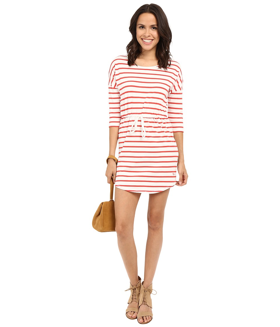 ONLY May 3/4 Sleeve Dress Bittersweet Striped Womens Dress
