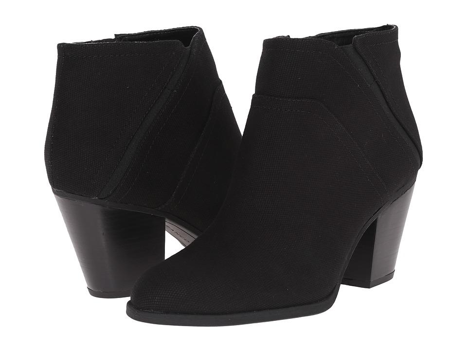 Franco Sarto Domino Black Canvas Womens Zip Boots
