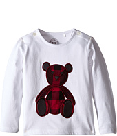 Burberry Kids - Long Sleeve Teddy Bear Embroidery Tee (Infant/Toddler)