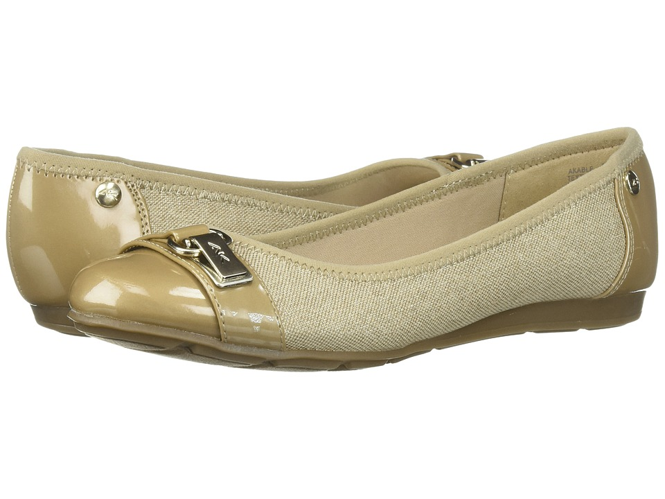Anne Klein Able Natural Multi Fabric Womens Slip on Shoes