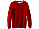 Burberry Kids Long Sleeve Crew Neck with Check Elbow Patches (Little Kids/Big Kids)