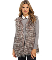 Olive & Oak - Short Sleeve Faux Fur Vest