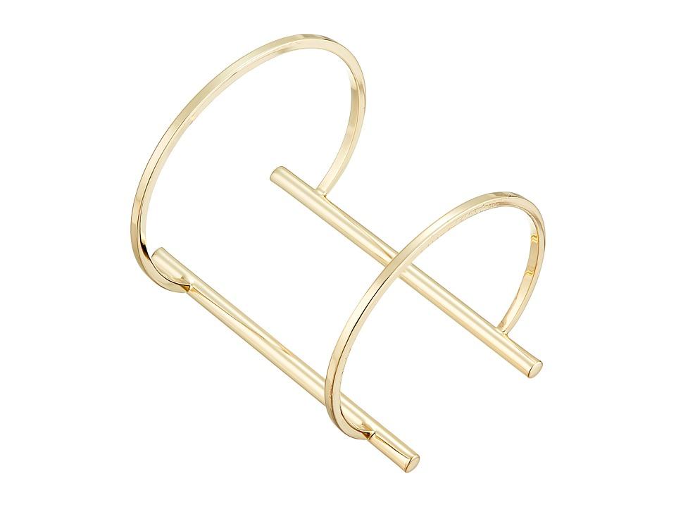 French Connection - Open Tube Cuff Bracelet (Gold) Bracelet
