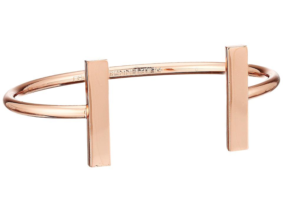 French Connection Rectangle Bar Cuff Bracelet Rose Gold Bracelet