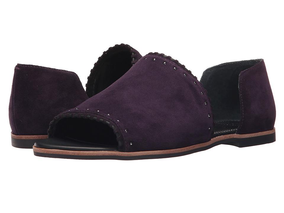 Franco Sarto Azmond Dark Purple Womens Sandals