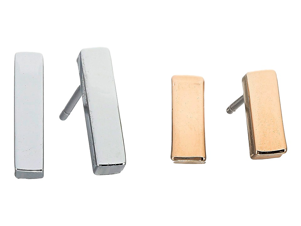 French Connection - Rectangle Bar Stud Earrings Set