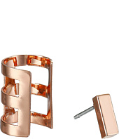 French Connection - Rectangle Bar Single Earrings & Cuff Set