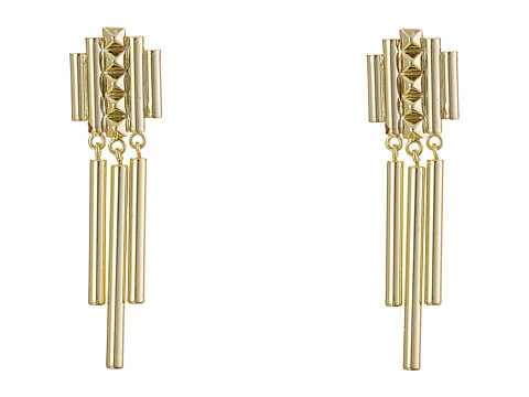 French Connection Pyramid Stud Linear Chandelier Earrings - Gold