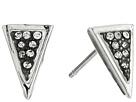 Mini Stone Set Triangle Stud Earrings