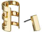 Rectangle Bar Single Earrings & Cuff Set