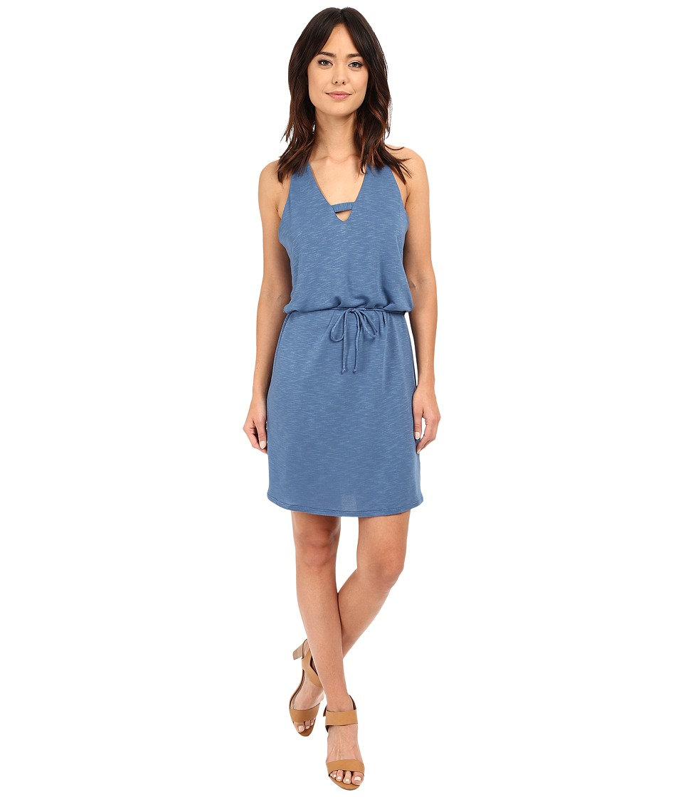 Lanston Cross V Mini Dress Denim Womens Dress