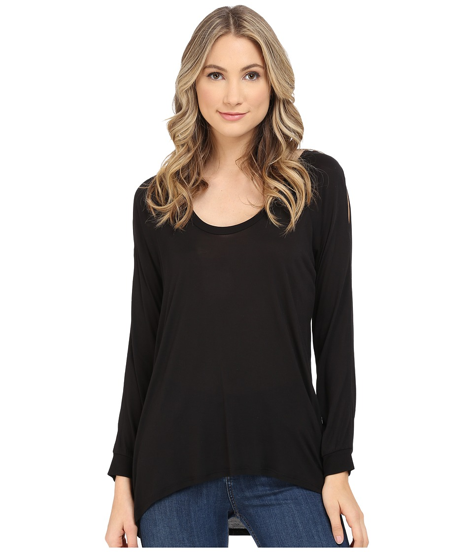 Lanston Cold Shoulder Pullover Black Womens Clothing