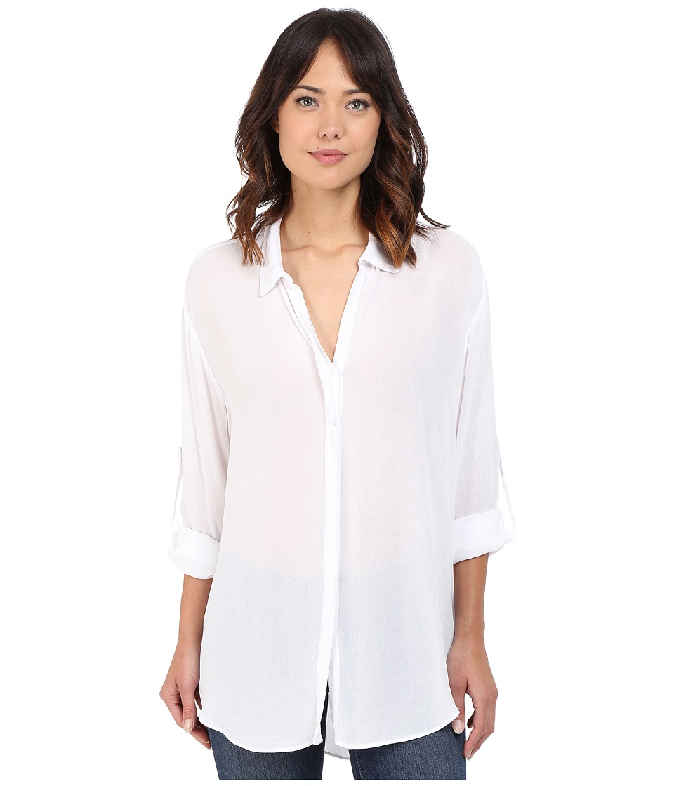 Lanston Button Down Shirt White Womens Clothing