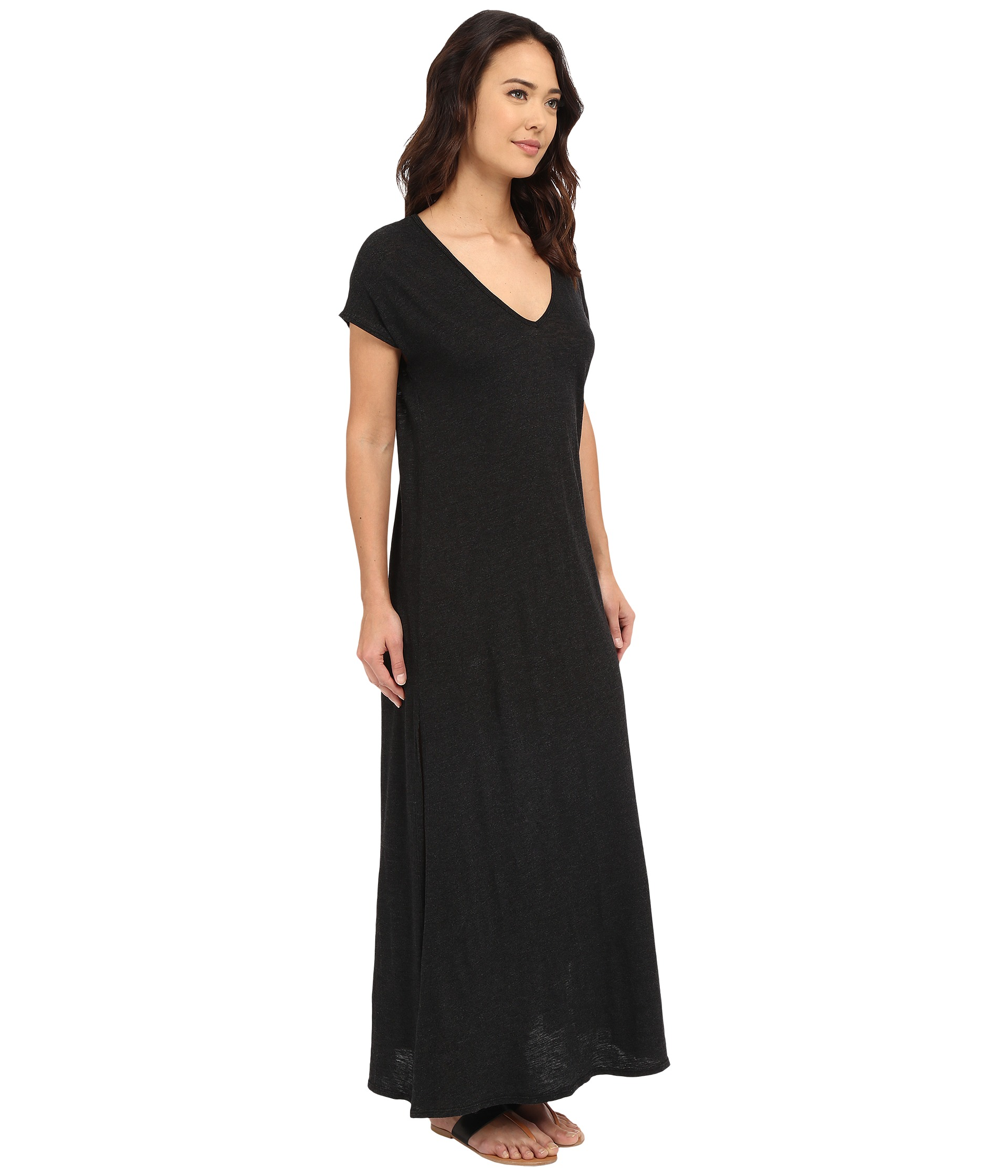 black maxi dress with sleeves beatific bride