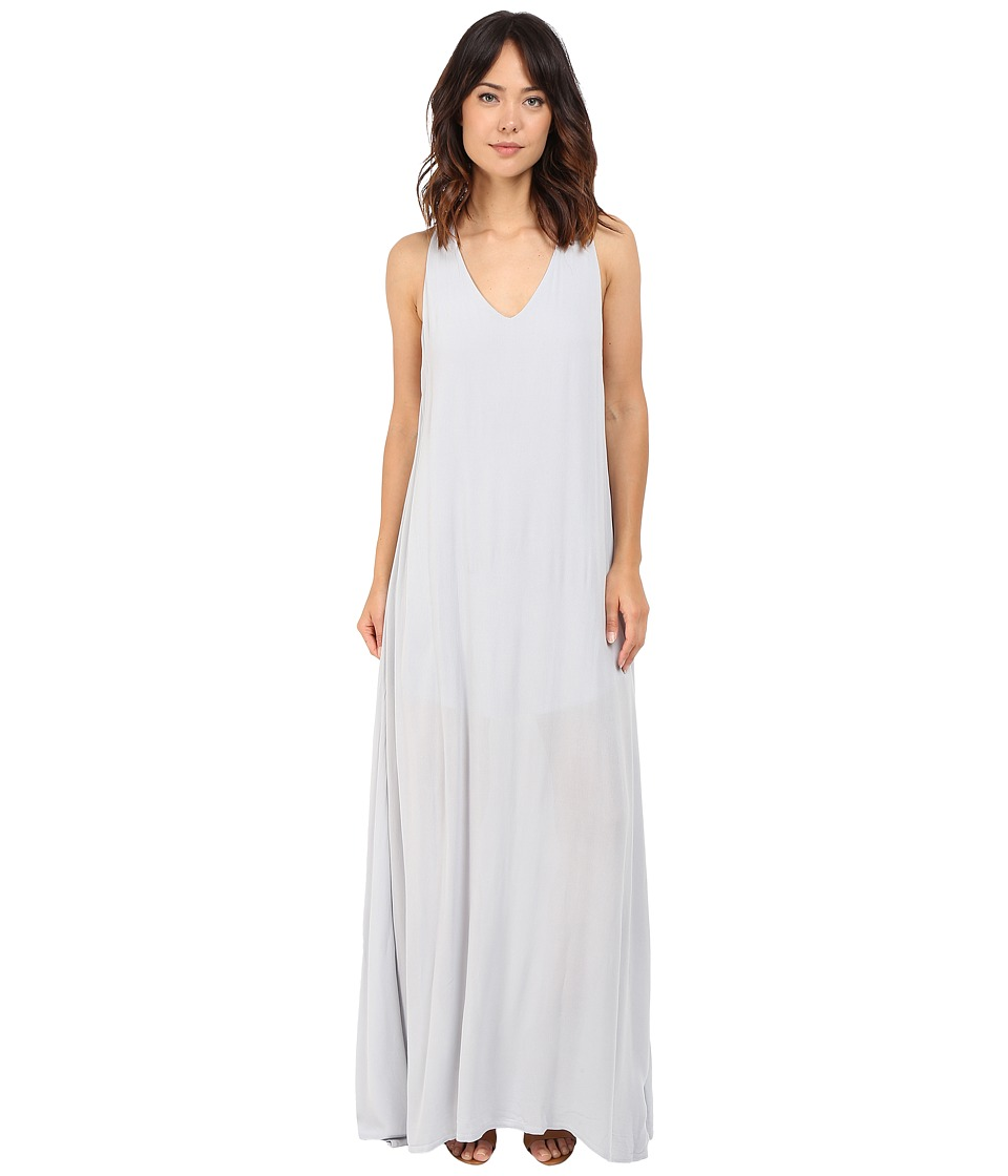 Lanston Deep V Open Maxi Dress Slate Womens Dress