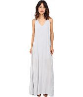 Lanston - Deep V Open Maxi Dress