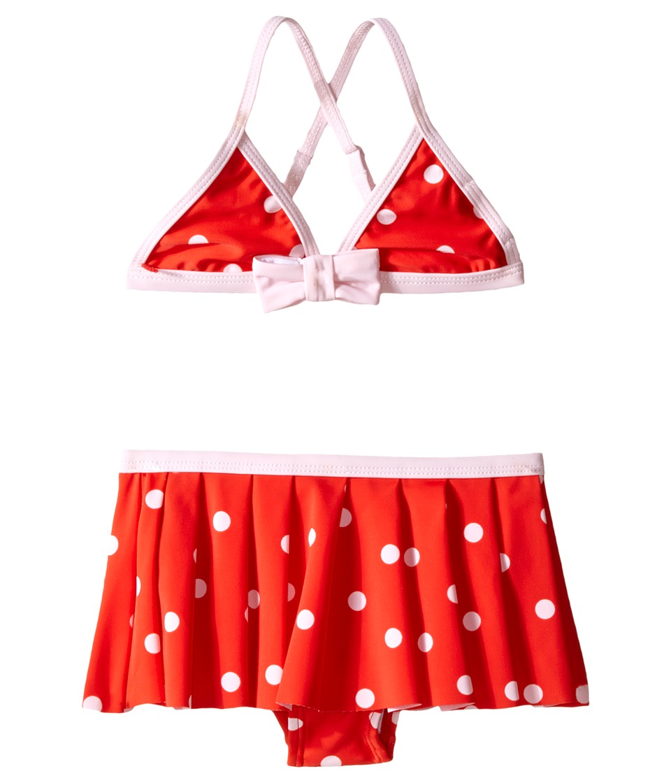 Kate Spade New York Kids Polka Dot Two Piece Toddler/Little Kids Fairytale Red/Pastry Pink Girls Swimwear Sets