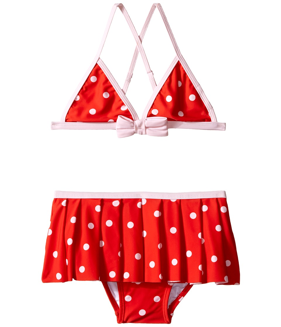 Kate Spade New York Kids Polka Dot Two Piece Big Kids Fairytale Red/Pastry Pink Girls Swimwear Sets