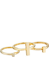 French Connection - Rectangle Bar Midi Ring Set
