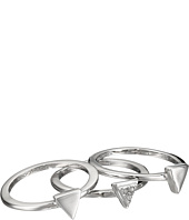 French Connection - Mini Stone Set Triangle Ring Set