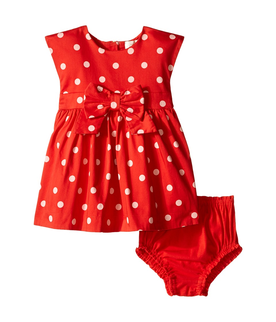 Kate Spade New York Kids Fiorella Dress and Bloomer Set Infant fairytale Red Polka Dot Girls Suits Sets
