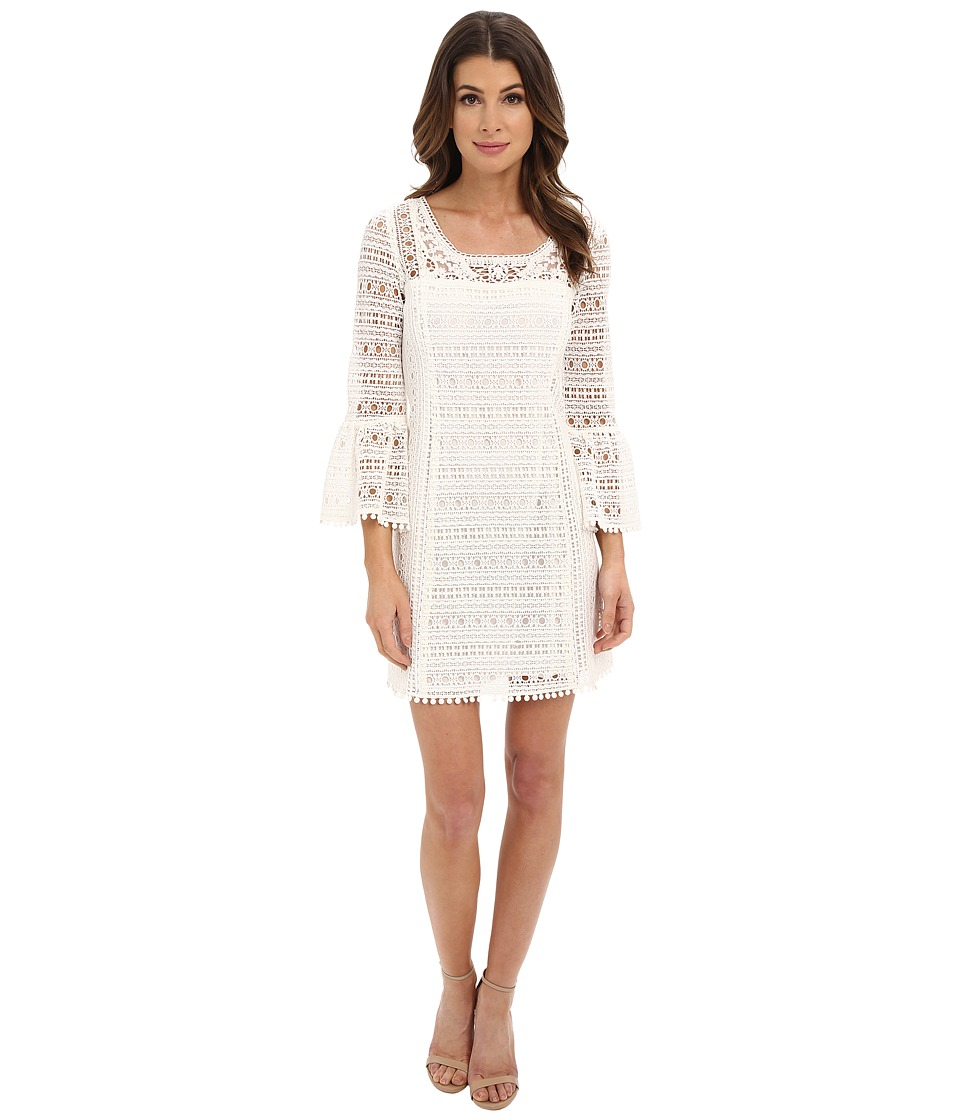 Nanette Lepore Free Spirit Frock White Womens Long Sleeve Pullover