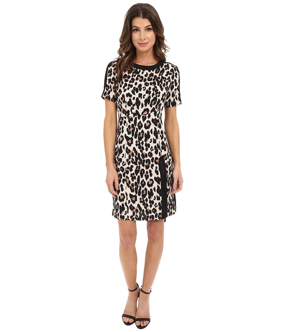 Nanette Lepore Wildlife Sheath Leopard Womens Clothing
