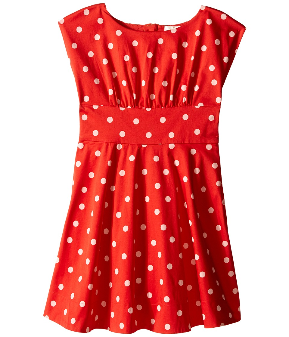 Kate Spade New York Kids Fiorella Dress Big Kids fairytale Red Polka Dot Girls Dress