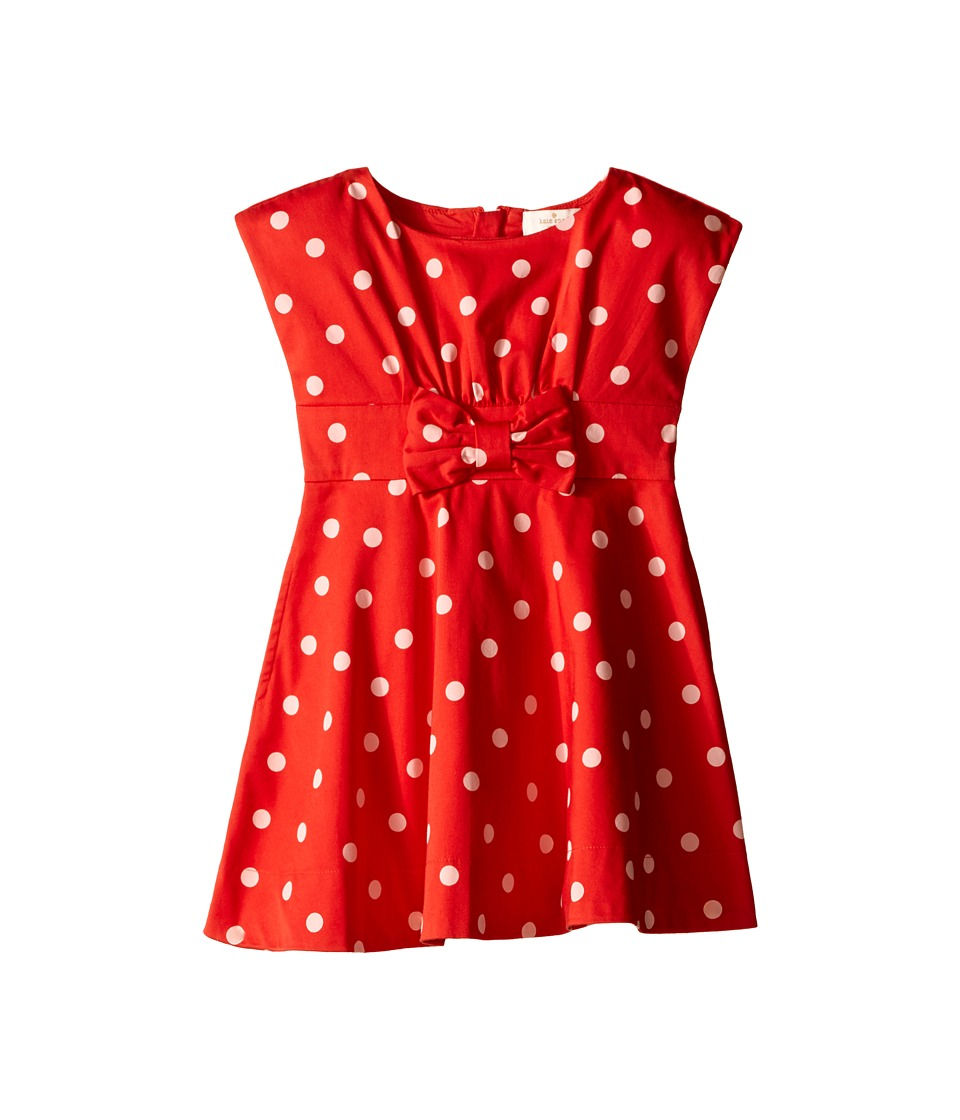 Kate Spade New York Kids Fiorella Dress Toddler/Little Kids fairytale Red Polka Dot Girls Dress