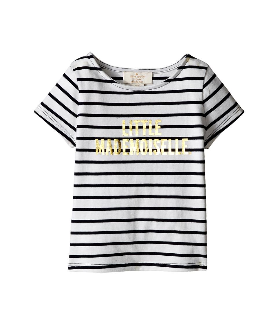 Kate Spade New York Kids Little Mademoiselle Tee Toddler/Little Kids Rich Navy/Cream Girls T Shirt