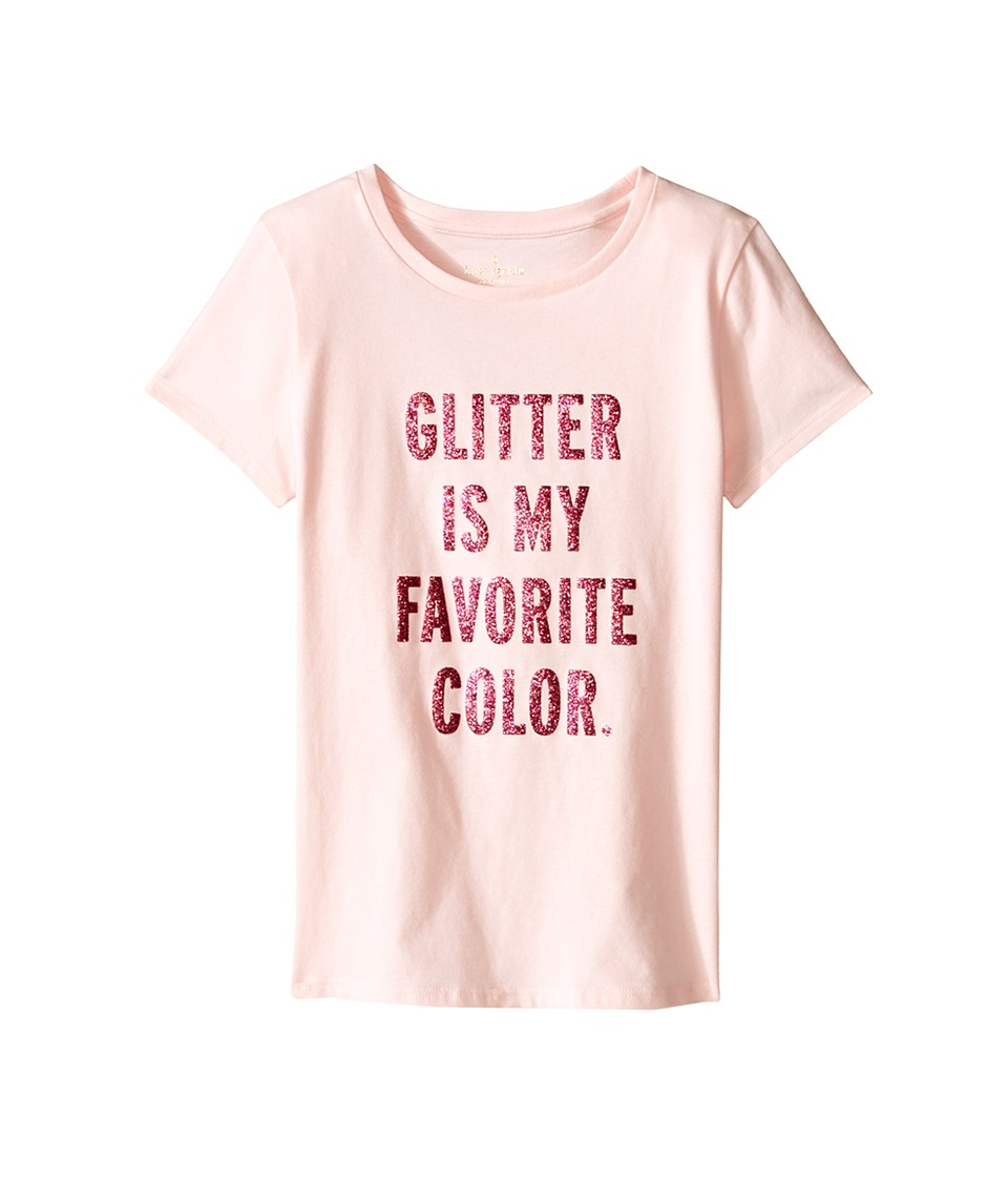 Kate Spade New York Kids Glitter Tee Big Kids Pastry Pink Girls T Shirt