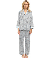 Oscar de la Renta Signature - Brush Back Satin Paisley Pajama
