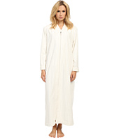 Oscar de la Renta - Embossed Stripe Plush Zip Robe