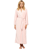 Oscar de la Renta - Embossed Stripe Plush Robe