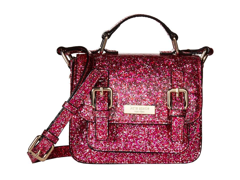 Kate Spade New York Kids Scout Crossbody Red/Pink Glitter Cross Body Handbags