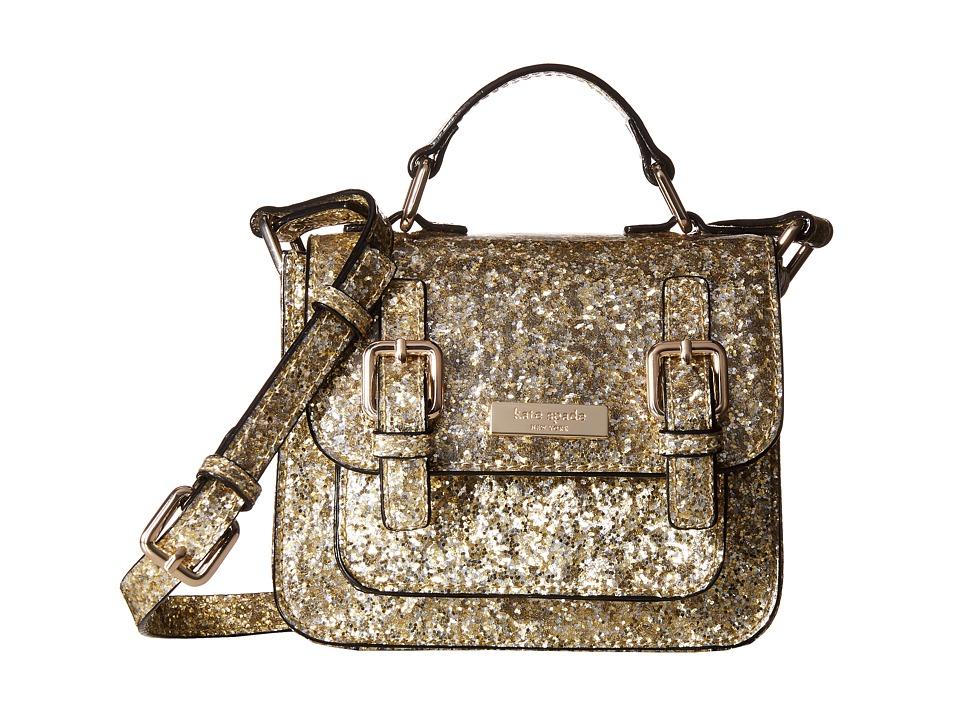 Kate Spade New York Kids Scout Crossbody Gold Glitter Cross Body Handbags