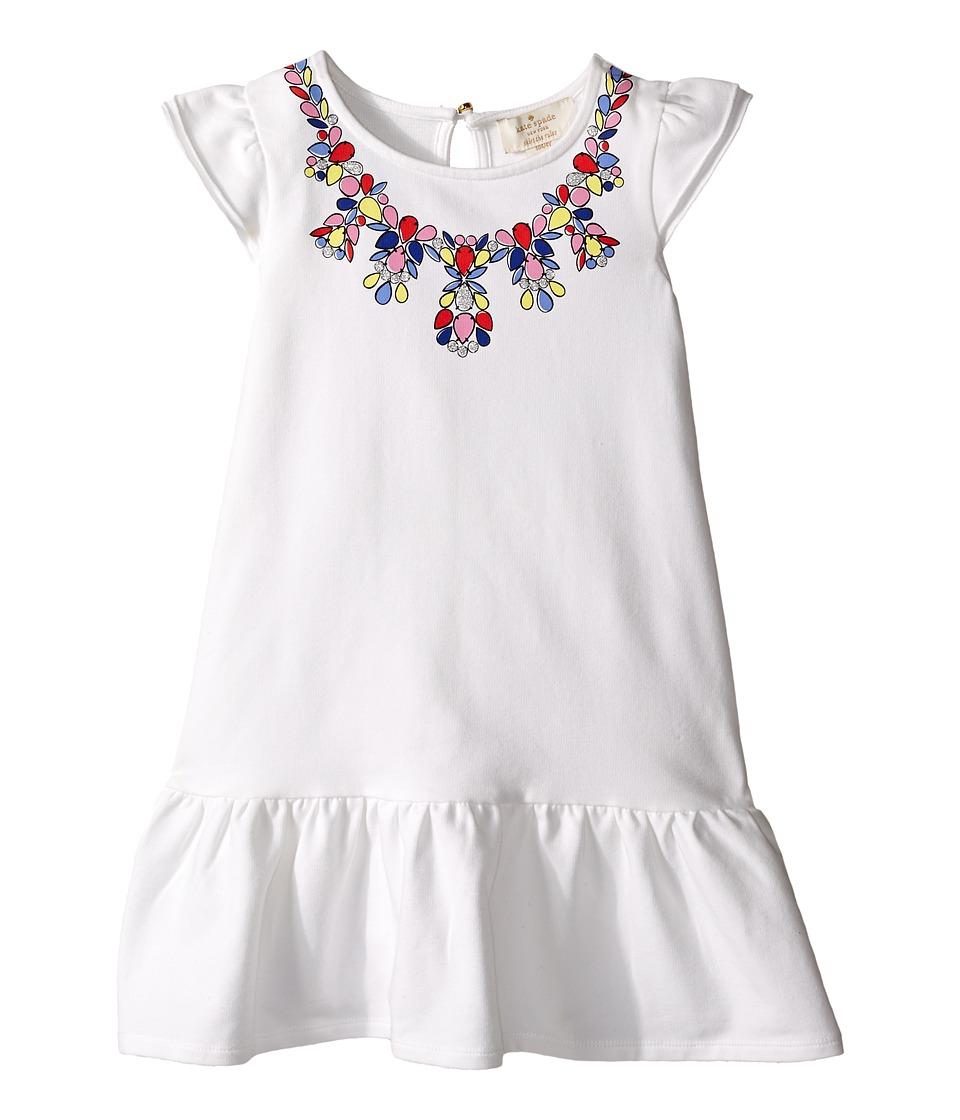 Kate Spade New York Kids Necklace Dress Toddler/Little Kids Cream Girls Dress