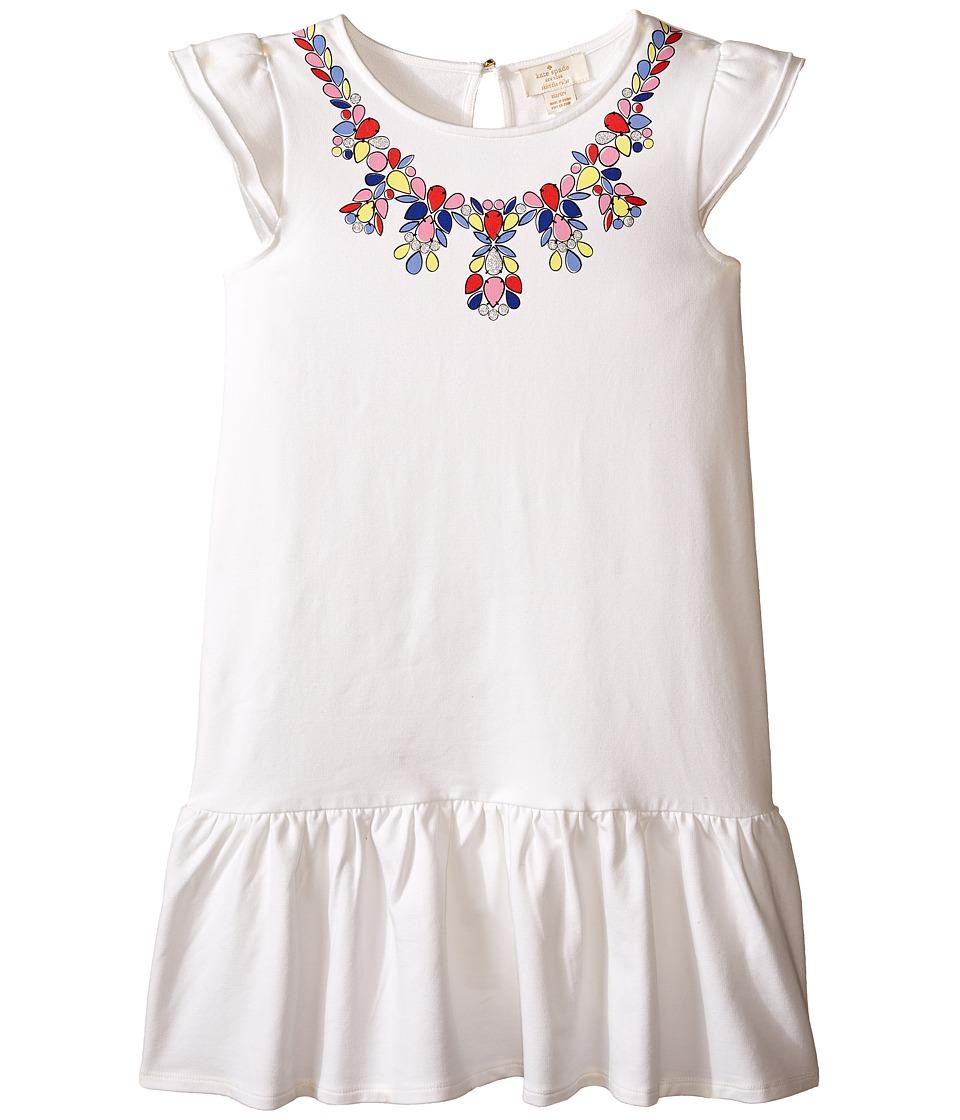 Kate Spade New York Kids Necklace Dress Big Kids Cream Girls Dress