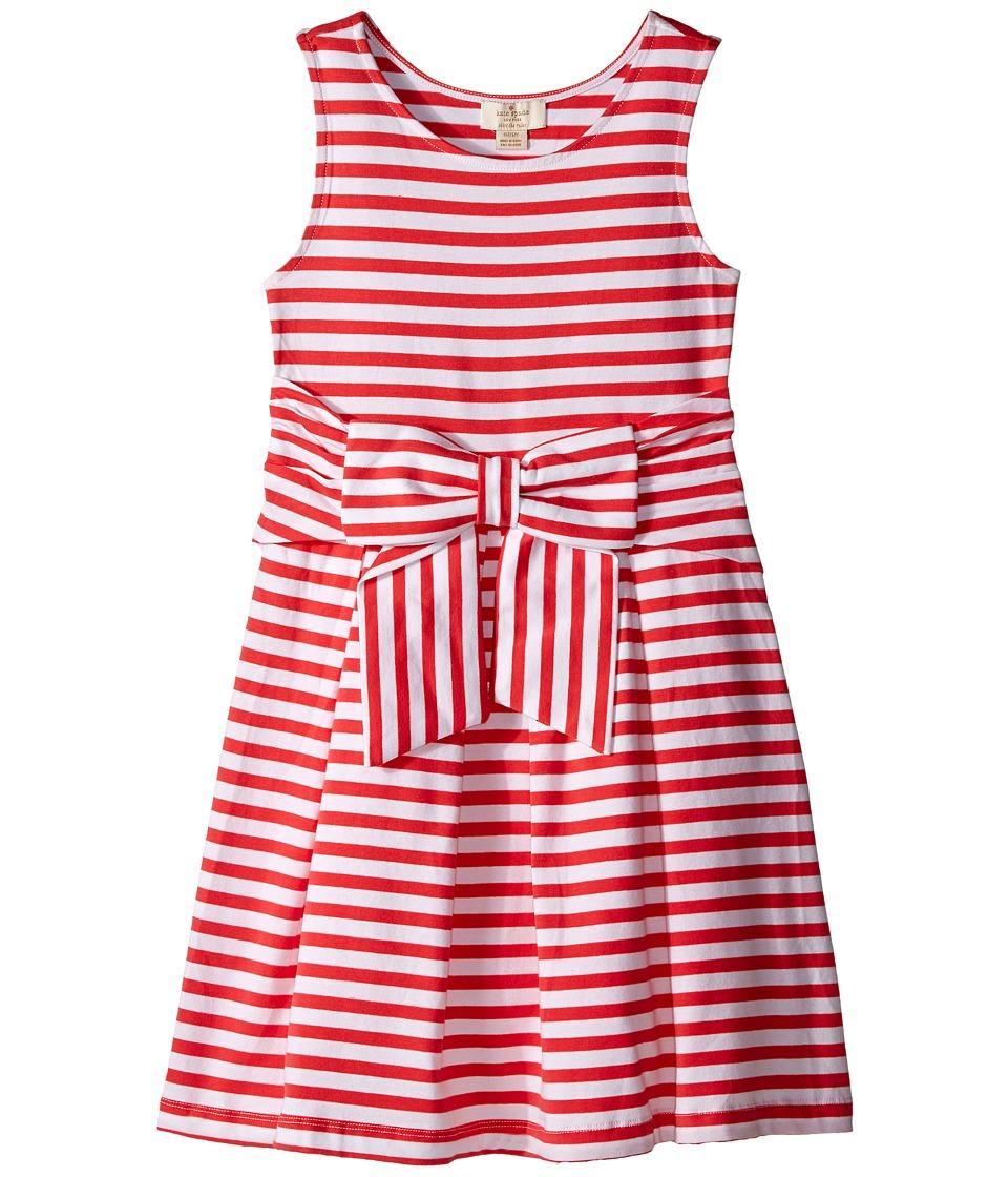 Kate Spade New York Kids Jillian Dress Big Kids Geranium/Cream Girls Dress