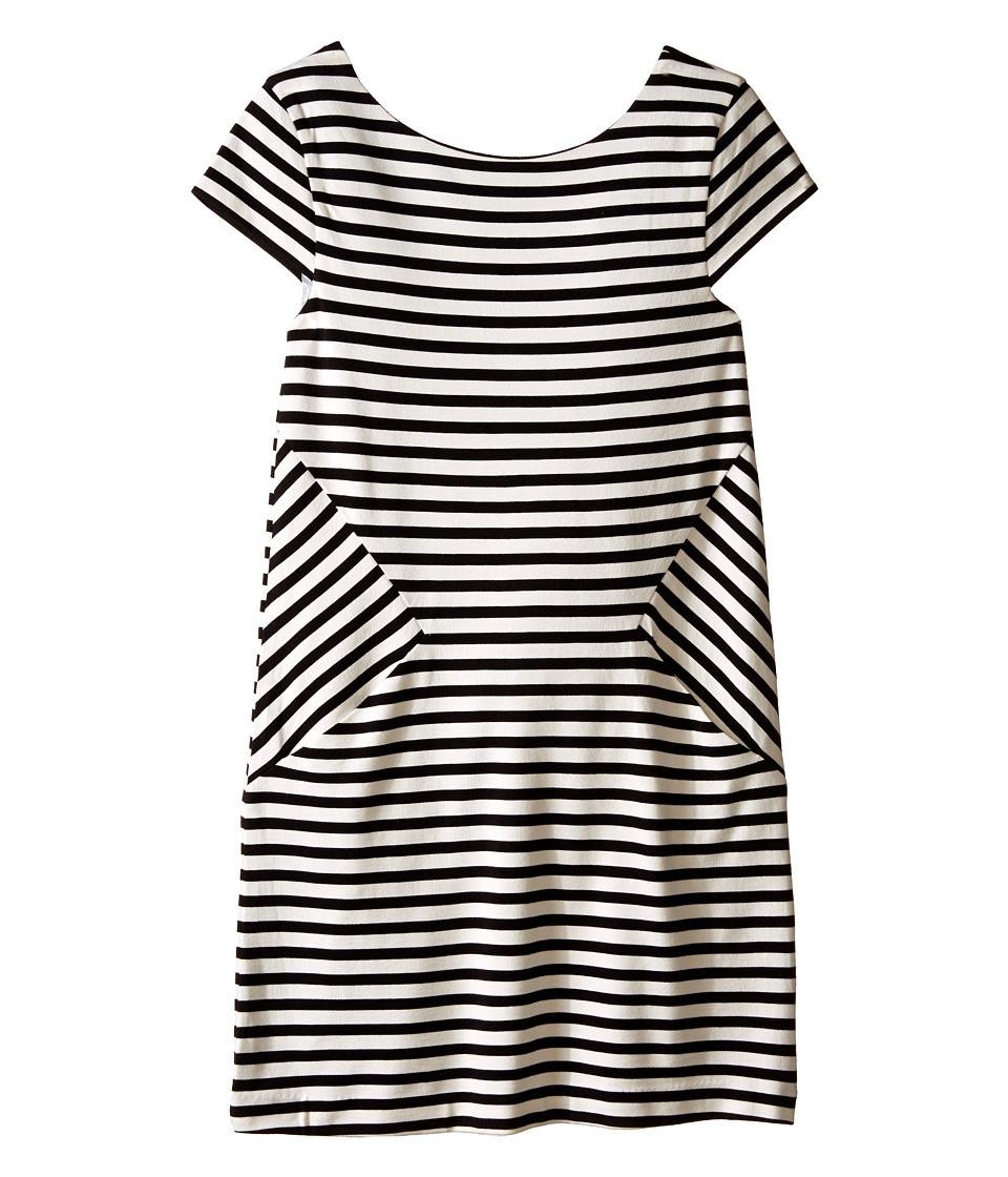 Kate Spade New York Kids Stripe Bow Dress Big Kids Black/Cream Stripe Girls Dress