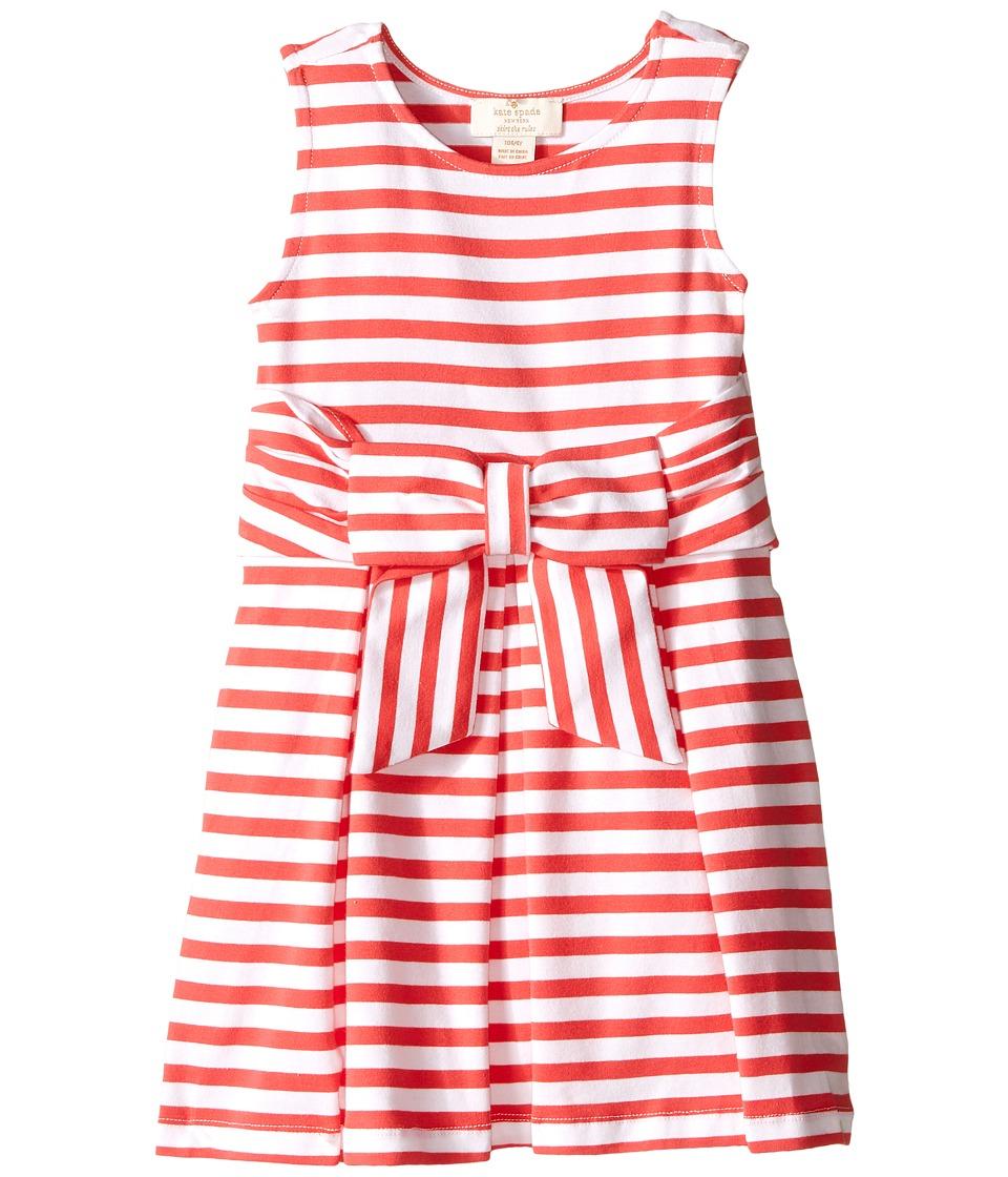 Kate Spade New York Kids Jillian Dress Toddler/Little Kids Geranium/Cream Girls Dress